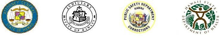 Attorney General logo, Judiciary logo, Public Safety Department logo, Department of Health logo